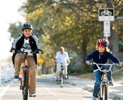 kids in bike lane